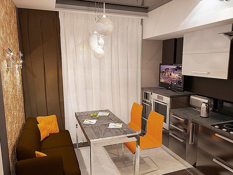 Дизайн рабочей зоны на кухне в квартире